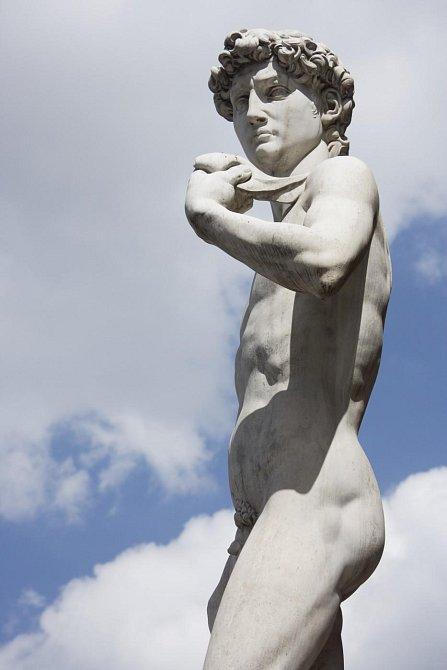 Socha Davida ve Florencii
