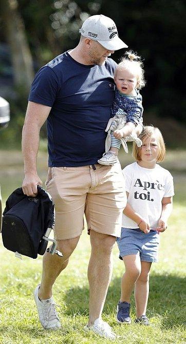 Mike Tindall s dětmi