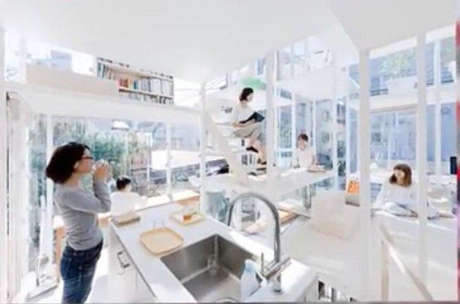 Takzvaný skleněný dům je jediným svého druhu