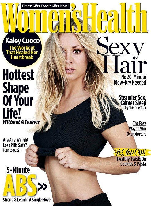 Kaley Cuoco na titulní stránce časopisu Women´s Health