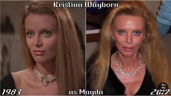 Herečka Kristina Wayborn coby Magda