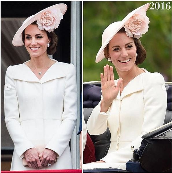 Kate si ke smetanovým vlasům vzala pokaždé jiný klobouček.