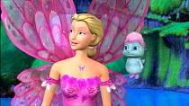 Filmová Barbie z prostředí vodního světa.