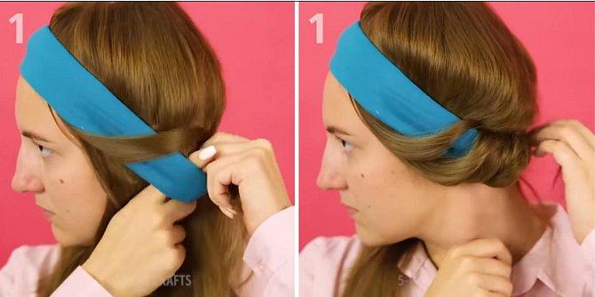 Vlasy kolem ní omotejte.