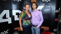 Filip Tomsa s manželkou