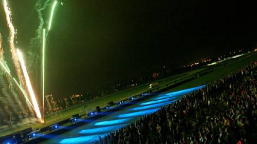 Pyro music laser fest