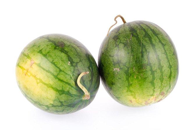 Vodní meloun - podívejte se na barvu skvrny z pole