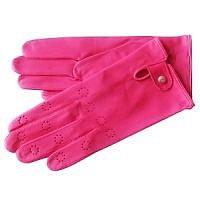 Růžové jehněčí rukavice