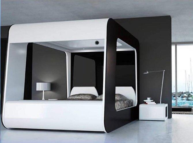 Tomu se říká hi-tech postel.