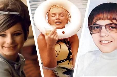 Fotky celebrit z rodinných archivů