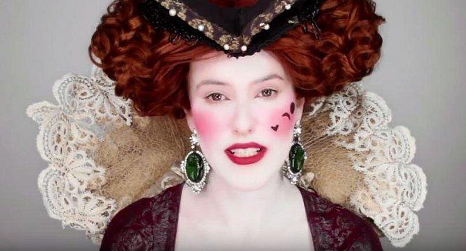 Renesance - hlavním rysem je naprosto bělostná pleť a nikdo neřeší, že přípravky, které k tomu měly napomoci, jsou zdraví škodlivé. Dámy si také líčily obrázky na tváře. Vše bylo divadelně přehnané...