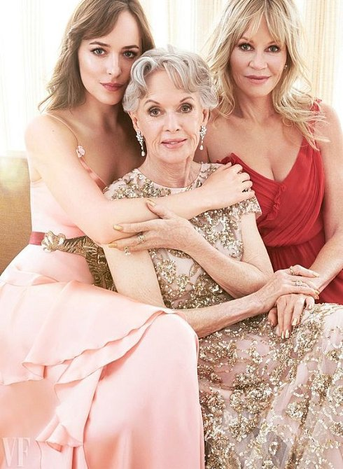 Dakota Johnson, Tippi Hedren a Melanie Griffith