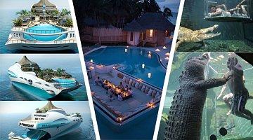 Exotické dovolené pro horních deset tisíc: Nesmyslné atrakce, ale také nepředstavitelný luxus