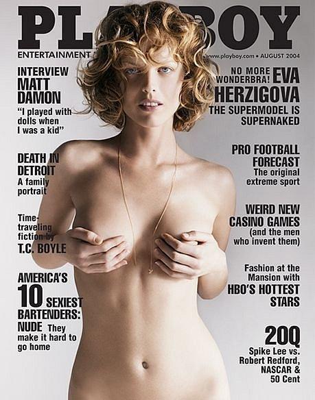 Eva Herzigová fotila v roce 2004 pro Playboy.