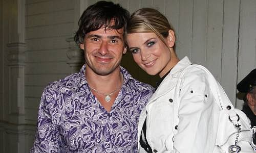 Iveta Lutovská s přítelem
