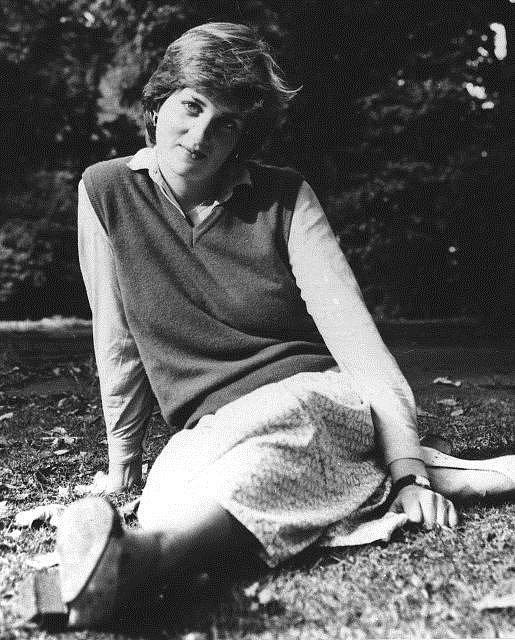mladá Diana Spencerová