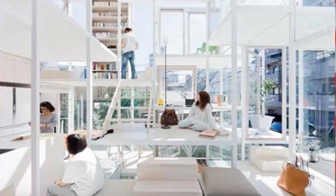 Dům, který je tvořen výhradně ze skleněných prvků