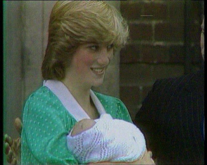 Princezna Diana se svým prvorozeným synem Williamem