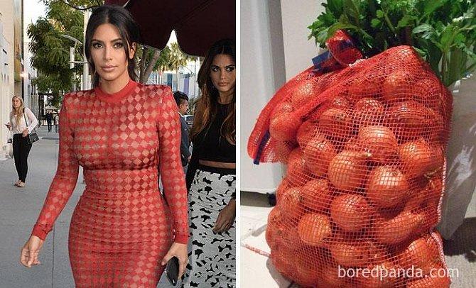 Kim Kardashian, nebo pytel cibule?