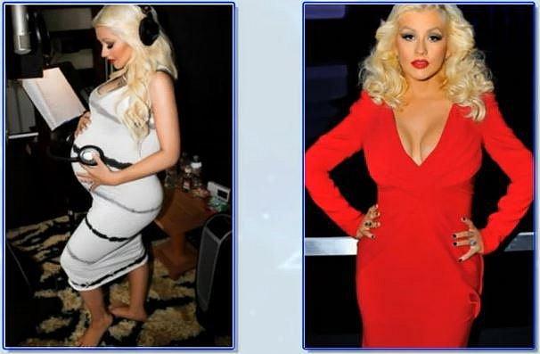 Christina Aguilera 3 měsíce po porodu