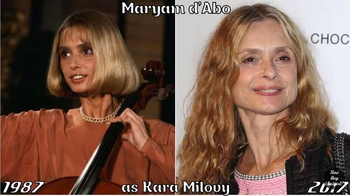 Herečka Maryam d'Abo coby Kara Milovy