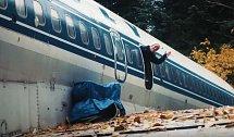 Svůj Boeing pak zaparkoval blízko města Portland v Americe.