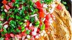 Hummus s červenou paprikou na mexický způsob.