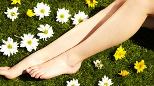 Kosmetika na unavené nohy