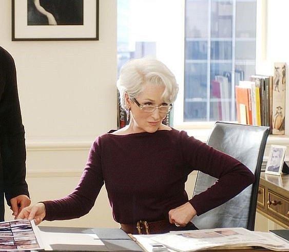 Annu Wintour ztvárnila ve filmu Ďábel nosí Pradu Meryl Streep.