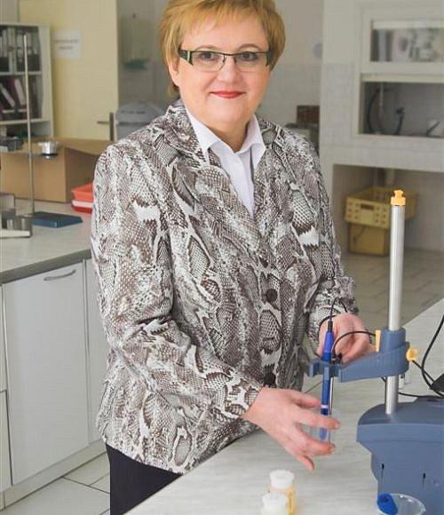 Ing. Eva Štěpánková v laboratoři Ryor