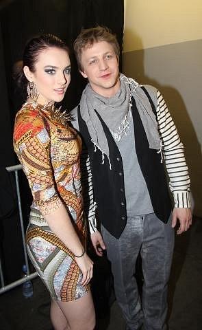 S bývalou přítelkyní Ewou Farnou