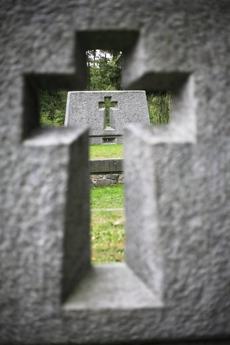 Ležáky, jedna z vesnic, kterou vypálili nacisté.