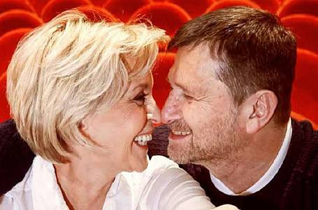 Jan Hrušínský se ženou