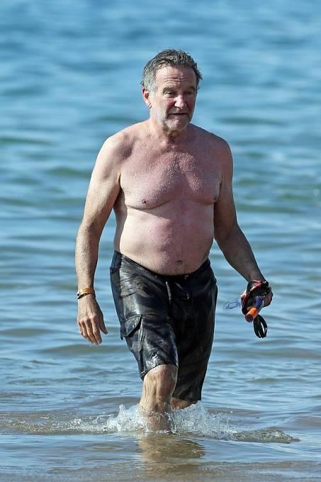Tady je Robin Williams na dovolené pár měsíců před svou smrtí.