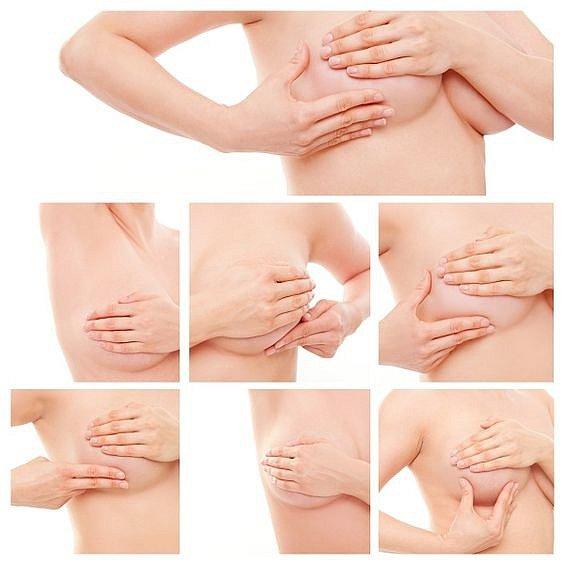 Jak si vyšetřit prsa.