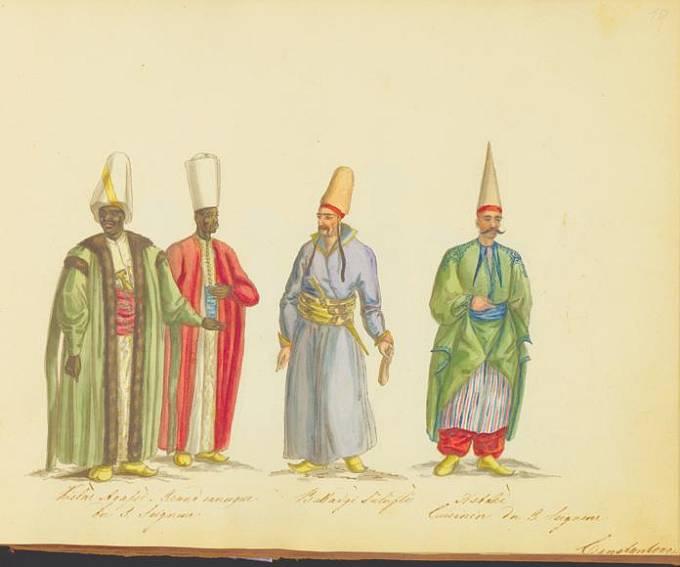 Nejvyšší černý a bílý eunuch se svými zástupci.