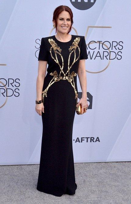 Megan Mullally měla při výběru šatů šťastnou ruku.