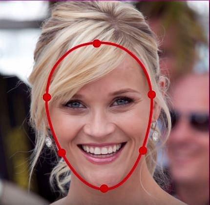 Herečka Reese Whiterspoon je typickou majitelkou srdcového tvaru obličeje.