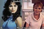 Herečka Madeline Smith coby Miss Caruso