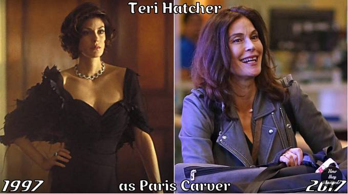 Herečka Teri Hatcher coby Paris Carver