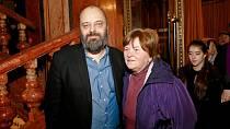 Petr Jarchovský s maminkou