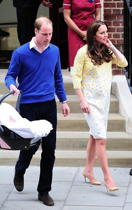 William vtipkoval, že v případě George raději trénoval upevnění autosedačky do vozu.
