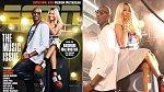 Nicky Minaj na titulce magazínu ESPN a reálná fotografie z focení