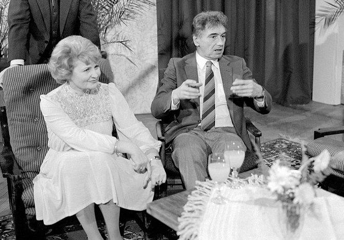 Eva Klepáčová s manželem Josefem Zímou