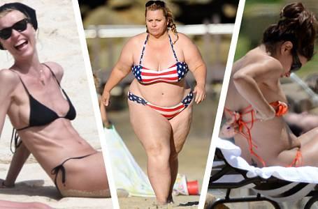 FOTOGALERIE: Celebrity svá NEDOKONALÁ TĚLA NEŘEŠÍ ANI V PLAVKÁCH! Dělejte to stejně!