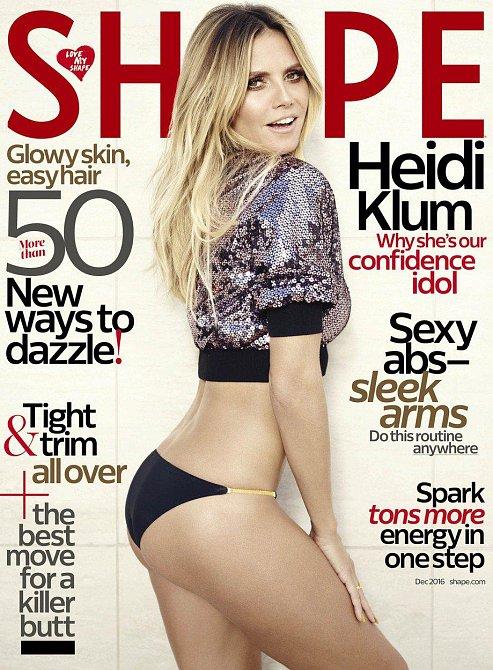 Heidi Klum na titulní stránce časopisu Shape