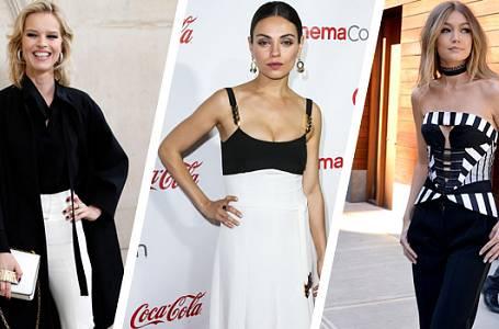 Kdo slavný nosí černobílé oblečení?