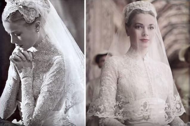 Grace Kelly ve svůj svatební den