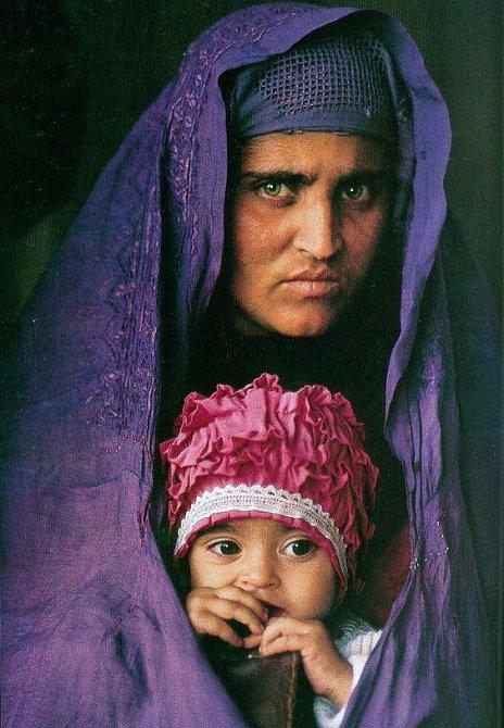 Šarbat se svou dcerou.