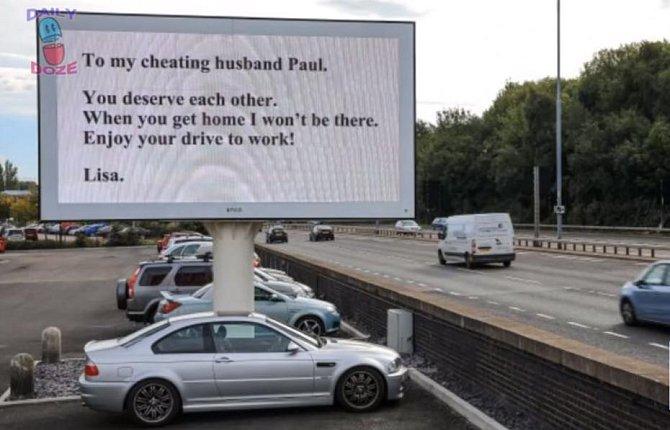 Toto asi nebylo pro Paula příjemné čtení při cestě do práce. Lisa se mezitím z jejich domova odstěhovala.